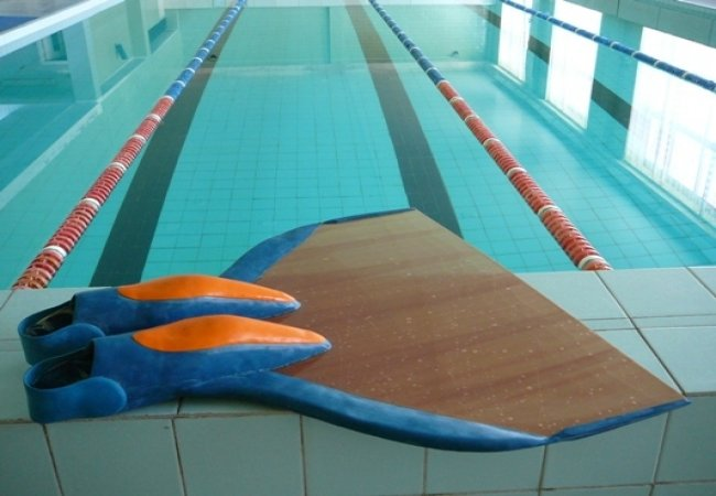 The single fin for underwater orienteering