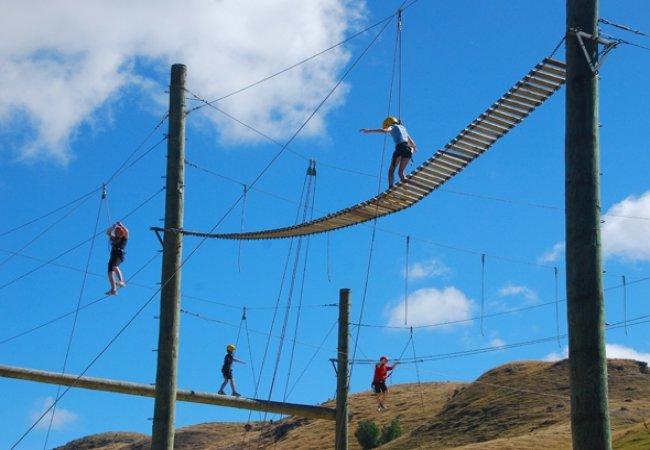 Amazing high rope challenge