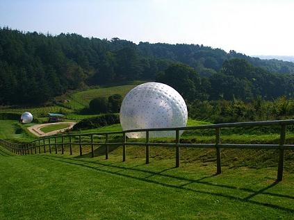 A purpose built zorbing track