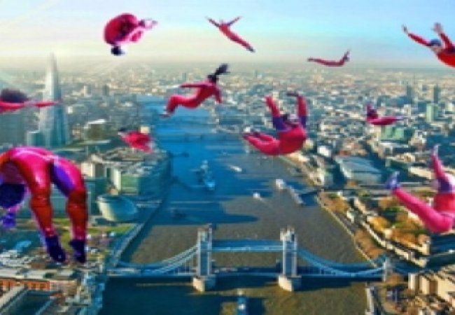 London parachuters