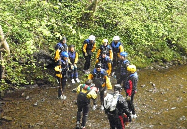 Gorge scrambling at alva glen 11